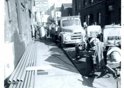 Welding at Dalhousie Street 1950's