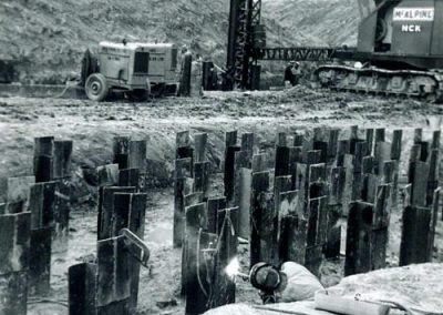 Welding Steel Pilings 1960's